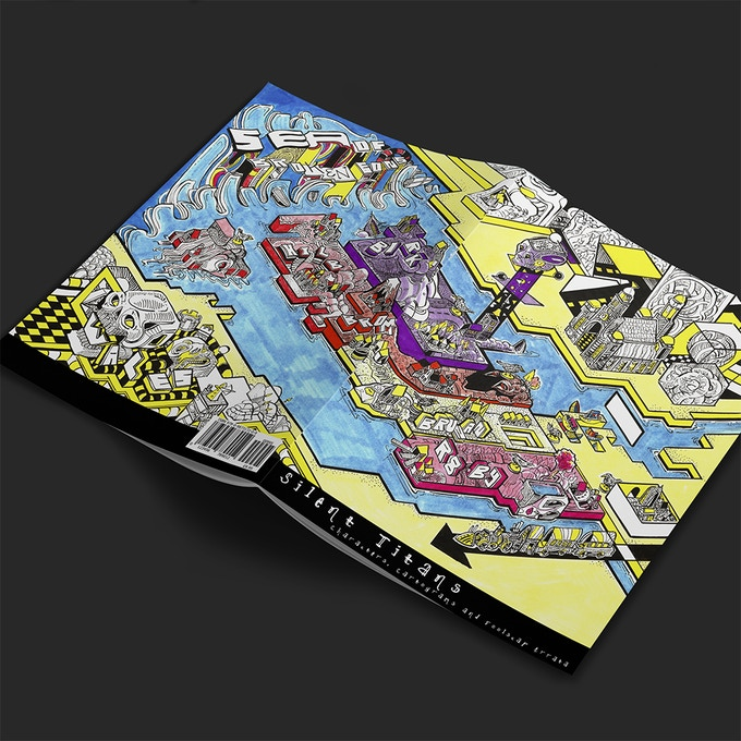 A rough digital mockup of the map booklet's cover.