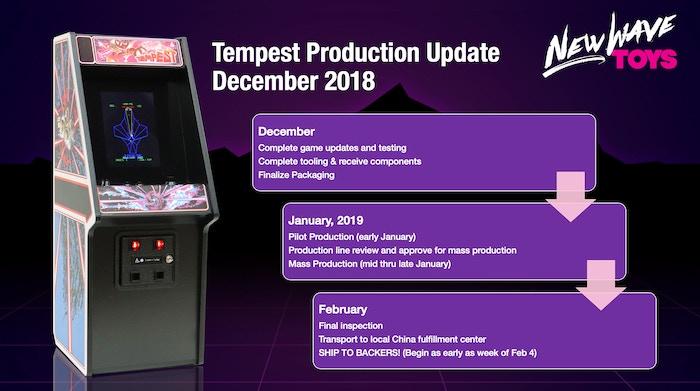 """RepliCade: Mini Tempest Arcade Machine Replica 12"""" Tall by"""