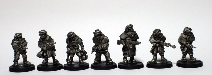 'Inked' master castings of The Baronial Rangers Squad