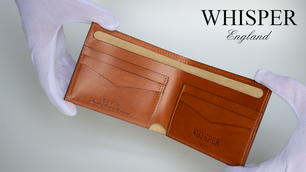 Whisper Wallet simple real leather wallet, made in England