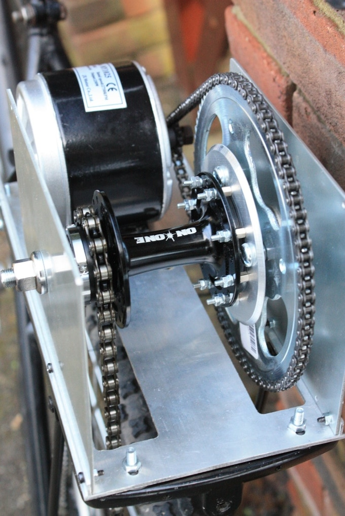 Close up of motor gearing (primary gear train)
