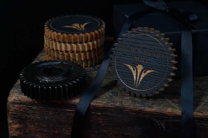 Black House Mill Pick Cog Coaster Package