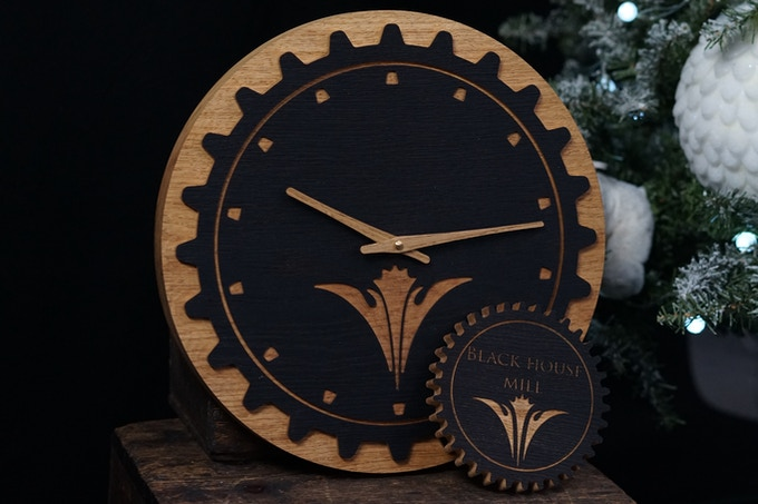Black House Mill 14 Hour Clock Package