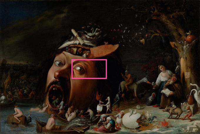 Original painting - Joos van Craesbeecks - The Temptation of St Anthony.