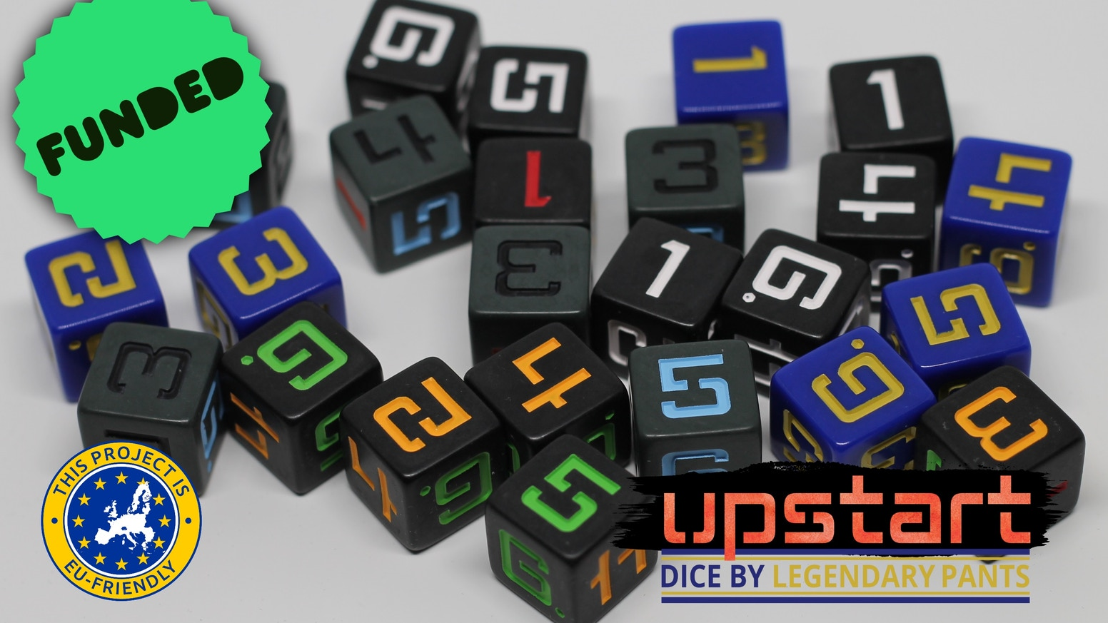 A line of d6 dice especially for sci-fi tabletop RPGs including Shadowrun, Starfinder, and Paranoia.