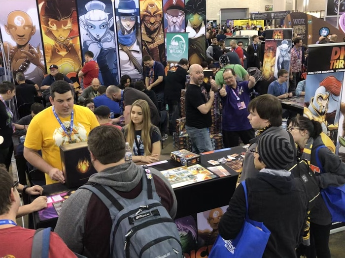 The booth was insanely busy!