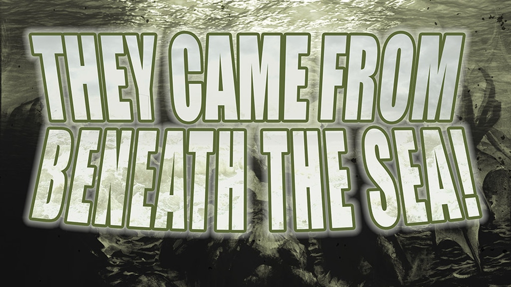 They Came from Beneath the Sea! -a tabletop roleplaying game project video thumbnail
