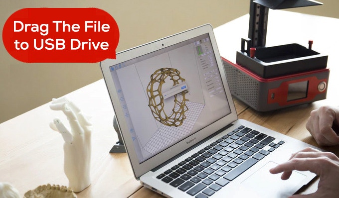 Step2: Drag The Printing File to The USB Drive