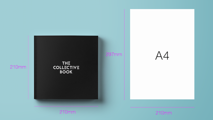 Book size compared to A4 paper