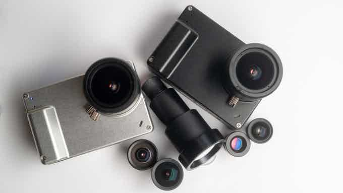 NANO1 with M12 lenses ranging from 15.4mm to 275mm equivalent focal length