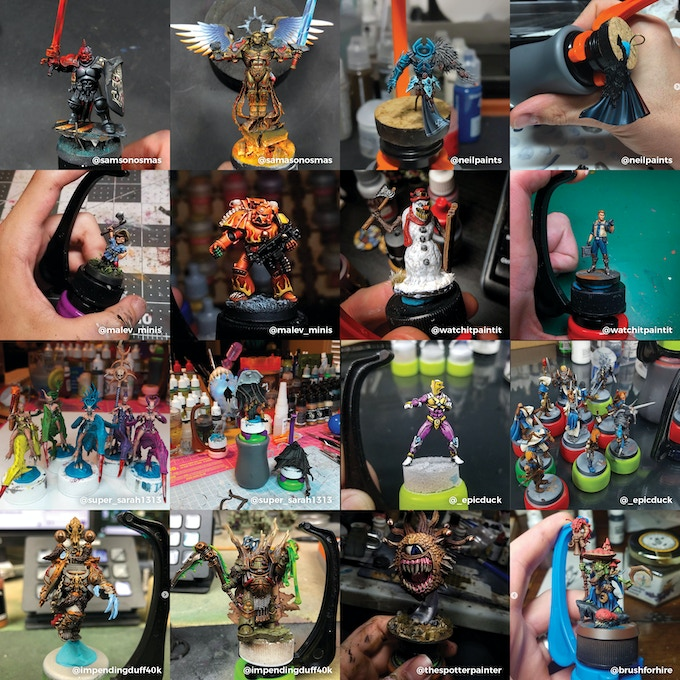 Check out some amazing painters who use the Hobby Holder!