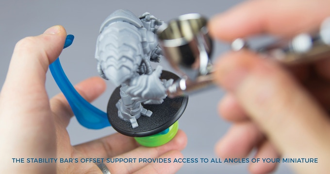 Paint with ease with unparalled acces all the way around your miniatures, even the top!