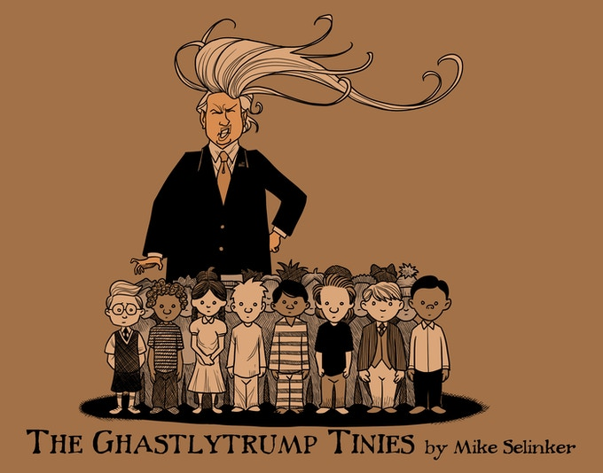 The Ghastlytrump Tinies cover by Nate Taylor.