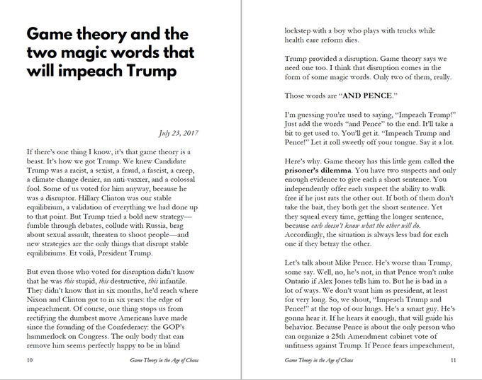 """Spread from the essay """"Game theory and the two magic words that will impeach Trump"""""""