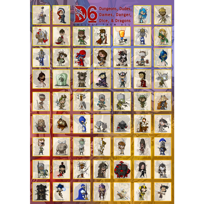 750 piece, 480x680mm, D6 Hero Puzzle