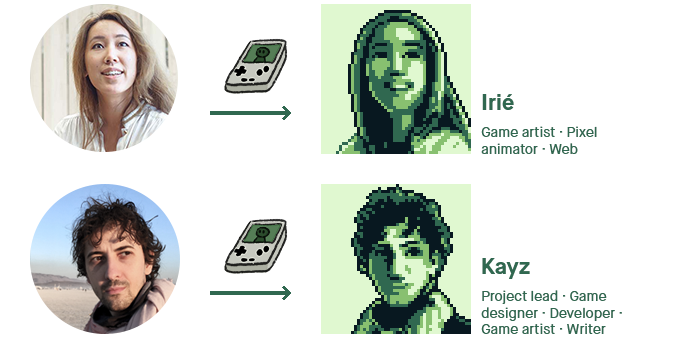 Pixel-art sample on the team!