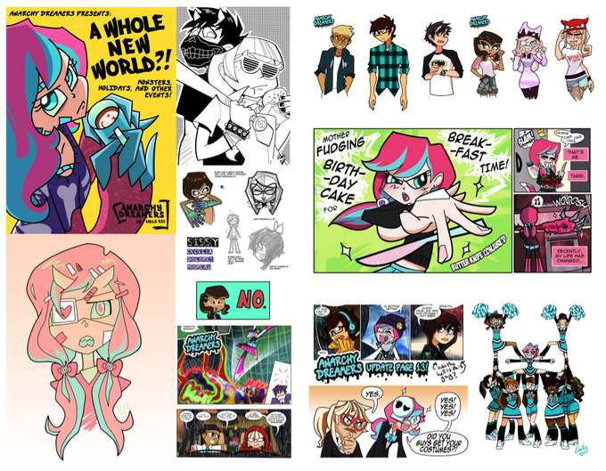 Anarchy Dreamers (2013) art! Late 2013- mid 2014  (not reflective of final page layouts)