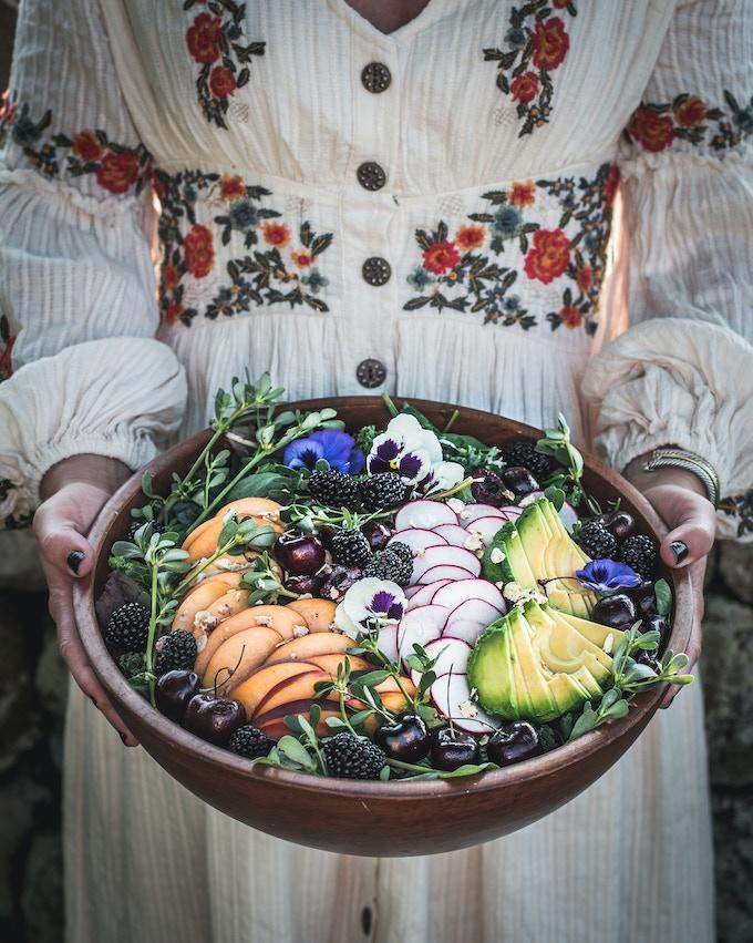 abudance salad highlighting summer's bounty