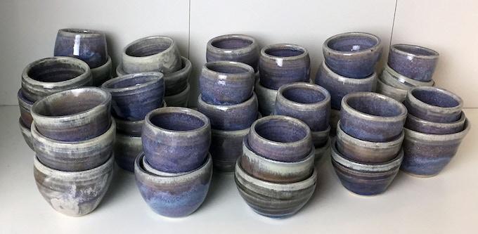 Handmade Glazed Ceramic Saki Cups