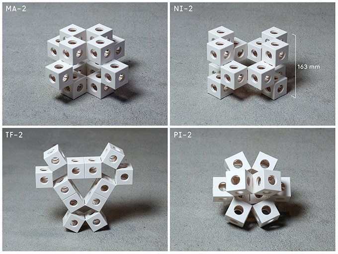 Examples of GHOSTKUBES that can be built with the pieces in the small box.