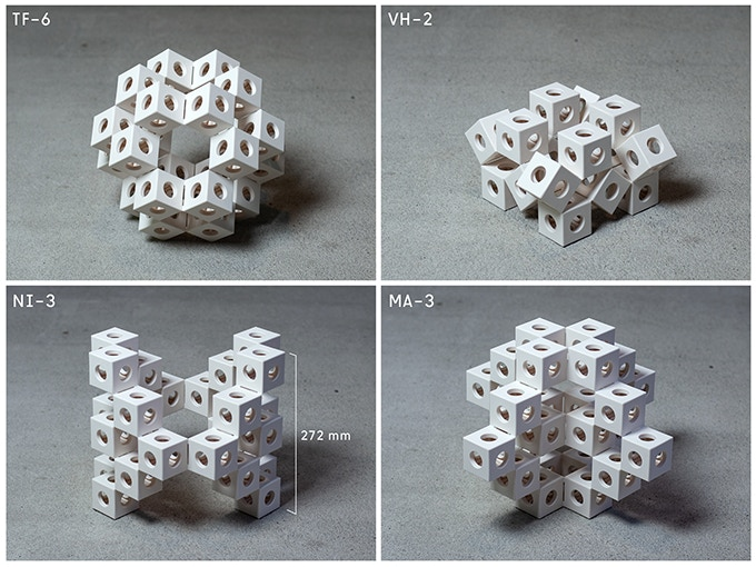 Examples of GHOSTKUBES that can be built with the pieces in the big box.