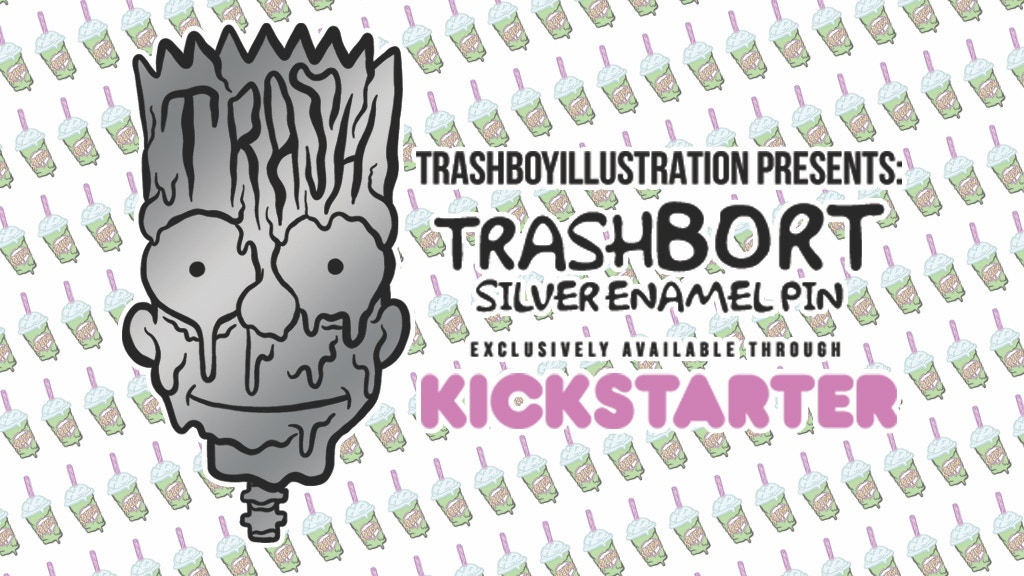 Project image for TrashBORT enamel pin