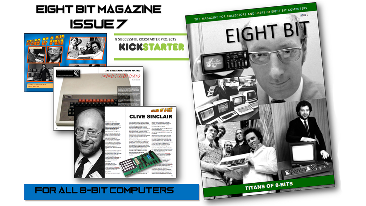 A 64 pages A5 printed publication covering 8-Bit computers such as the Commodore 64, ZX Spectrum, Amstrad CPC, MSX, Apple and Atari.