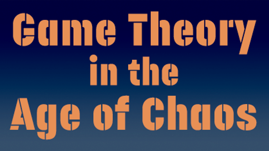 Game Theory In The Age Of Chaos Goes To Washington By Basket Of Adorables Kickstarter