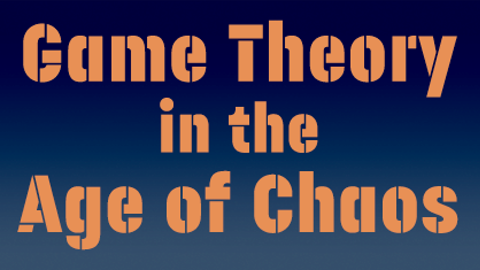 We're sending every Democratic Senator and Representative a copy of Mike Selinker's upcoming strategy book Game Theory in the Age of Chaos.