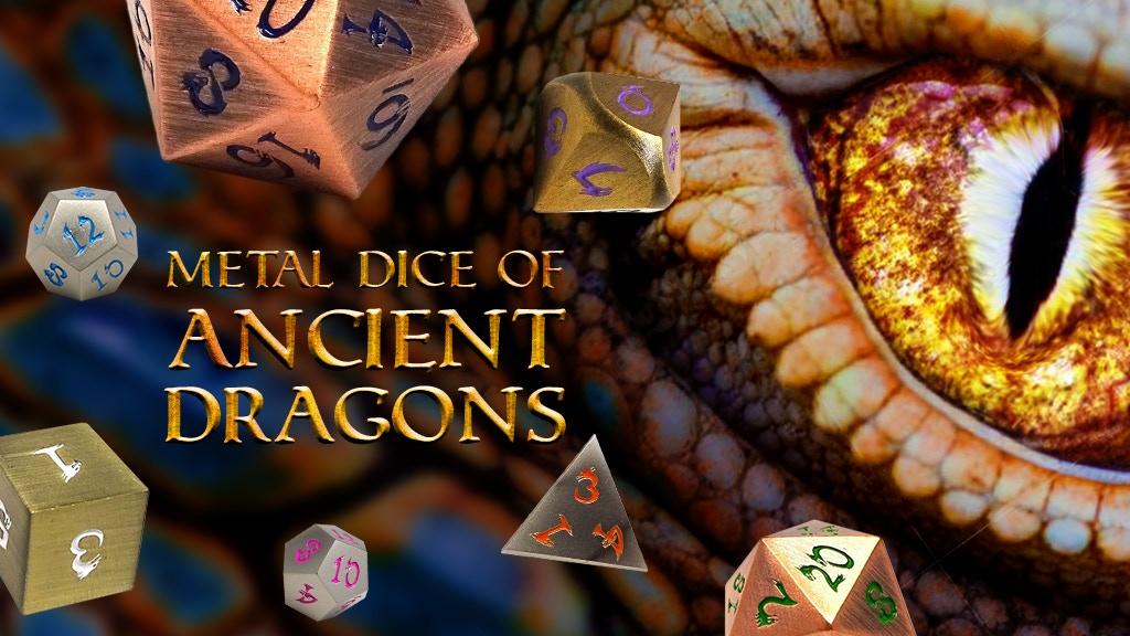 Metal Dice of Ancient Dragons Series