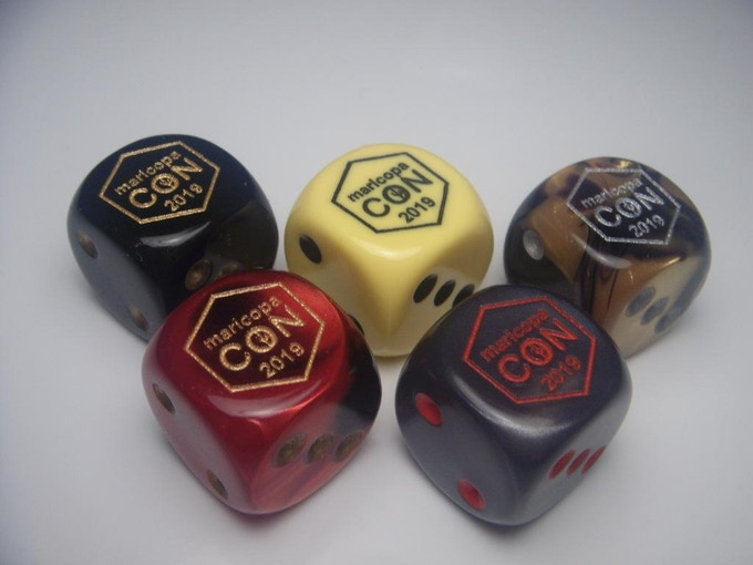 The Chessex partnership remains strong and they will be creating the dice again this year.