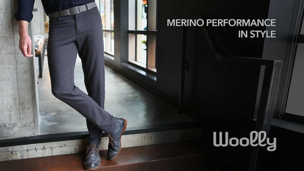 The Longhaul Pant - Merino performance in style by Woolly project video thumbnail