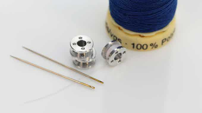 Each pen contains a single bobbin, holding 1 meter of thread