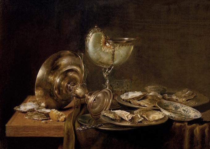 Original Painting - Heda, Willem Claesz - Life With Nautilus (1649)