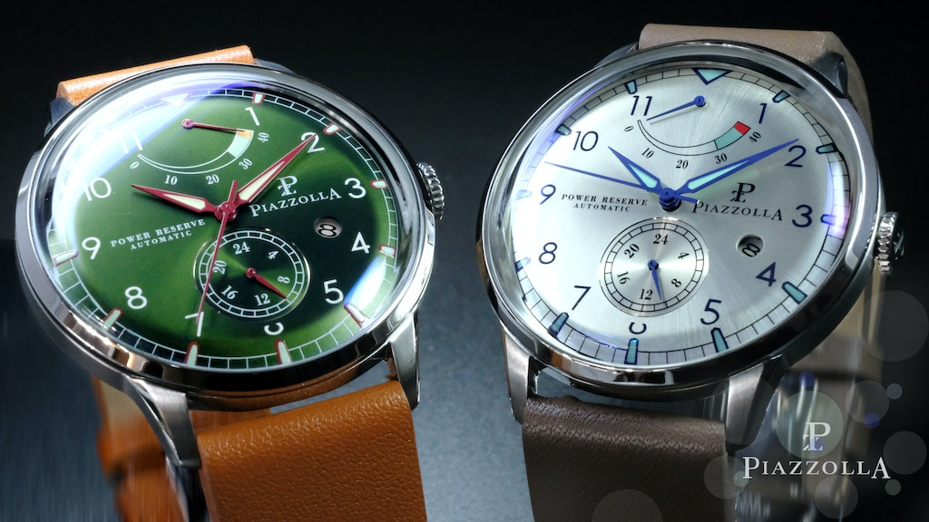 Piazzolla - Classic Mechanical Watches, Sapphire Crystal