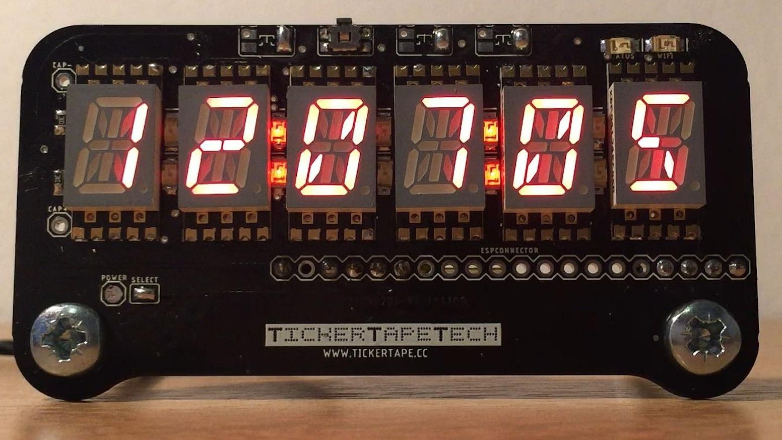 TickerTape Retro Display by Darren — Kickstarter