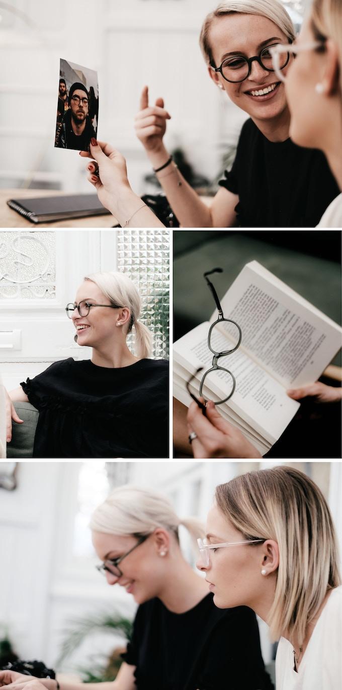 Glasses Model: Opera / Color: Matte Green Transparent and Matte Transparent