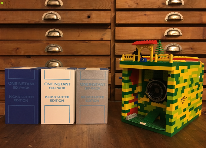 ONE INSTANT LEGO PACKFILM CAMERA & TRIPLE 6 PACK