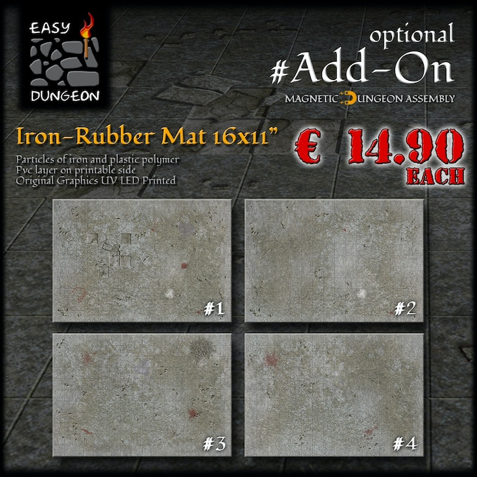 Easy Dungeon - Seamless Magnetic Dungeon Tiles by Games06