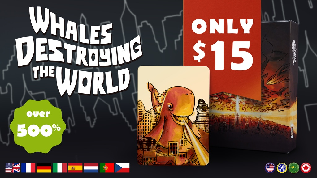 Whales Destroying the World - bluffing card game project video thumbnail