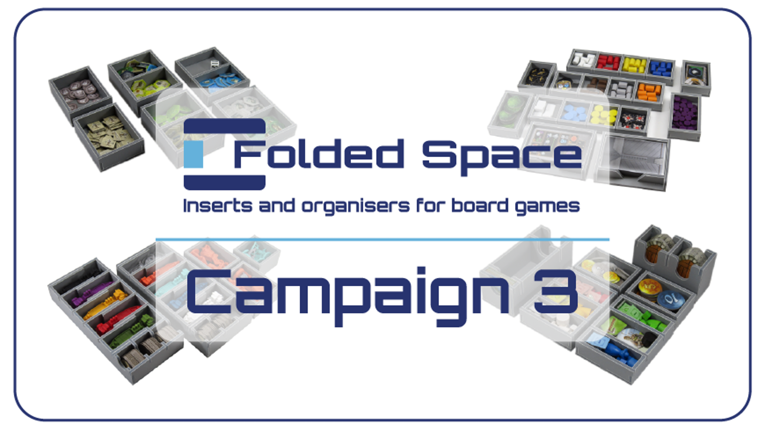 Folded Space's latest campaign adds 16 new inserts to further expand our range and organise even more of your board game collection!
