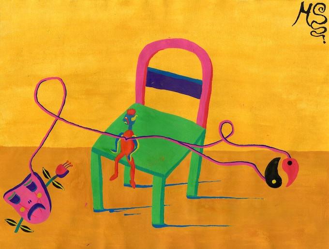 """Nombre:""""La silla de pensar"""" Fecha: 21-10-2018"""