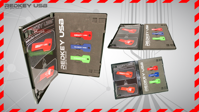 Redkey is supplied in a discreet DVD style case, with foam inserts & full printed instructions.
