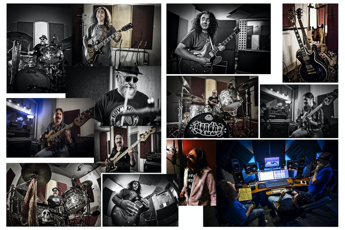 Nandha Blues recording the new album @Meat Beat Studio in Aosta Italy
