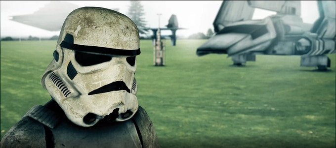 Test Render - Currently we have to use CG Stormtroopers. With your help, we can afford real costumes.