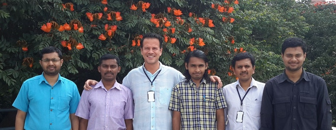 Part of technical development team in India