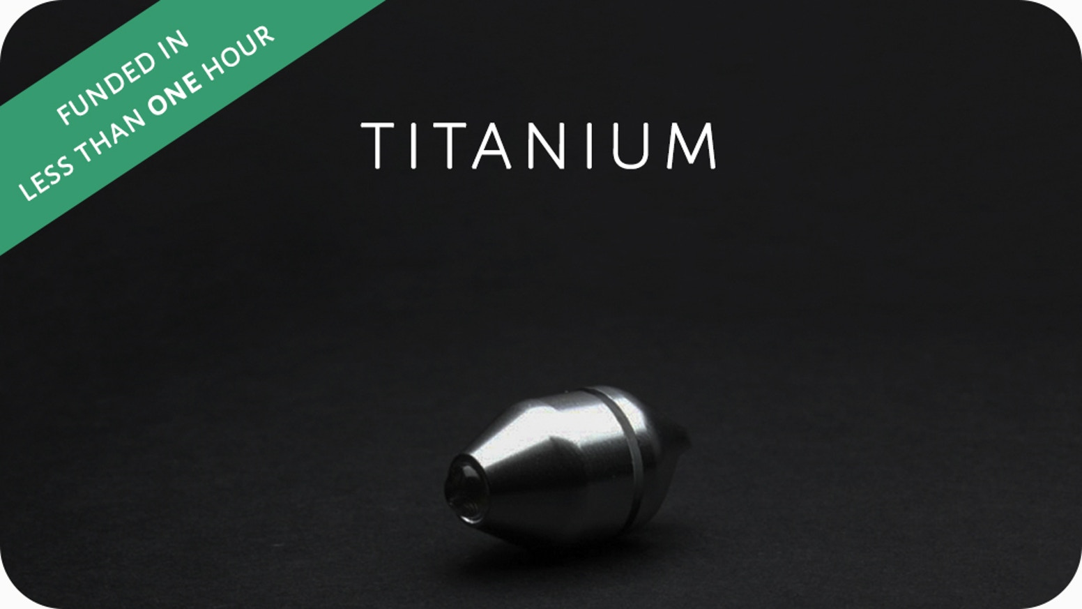 The world's smallest & toughest waterproof Titanium flashlight.