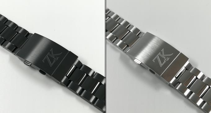 Bracelets with ratcheting folding clasp and engraved Z&K Logo