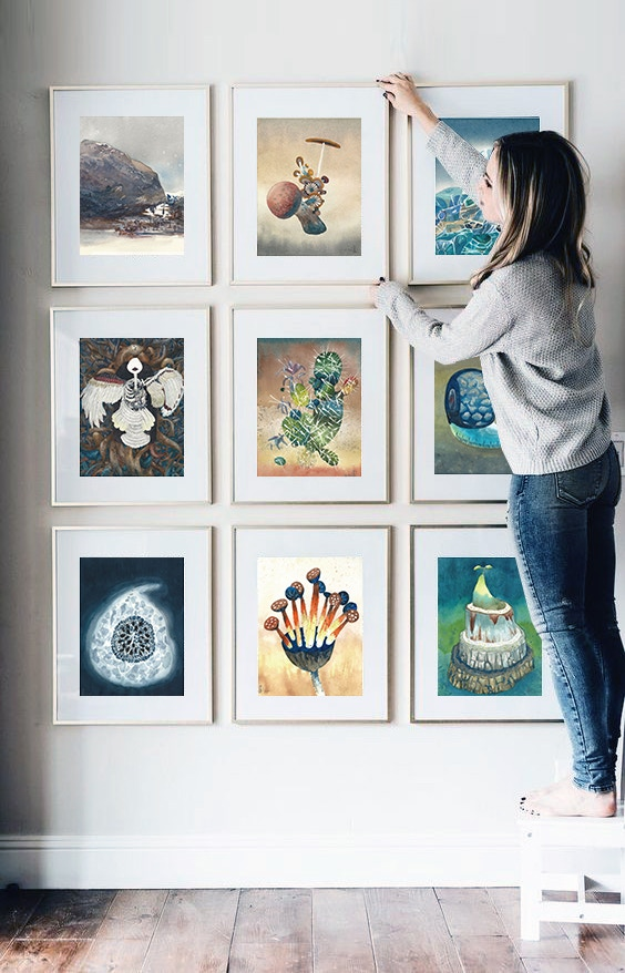 Cut and frame the calendar to display it as artwork