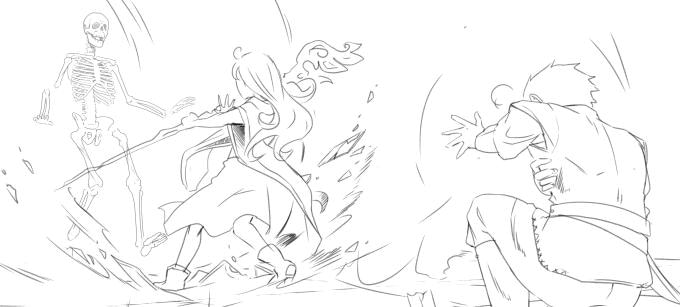 """Ausschnitt aus der Skizze für den Zauberspruch """"Heilen leichter Wunden"""""""